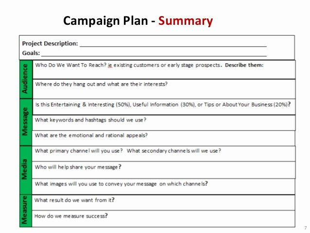 Marketing Campaign Plan Template Awesome Non Profit Marketing Campaign Template