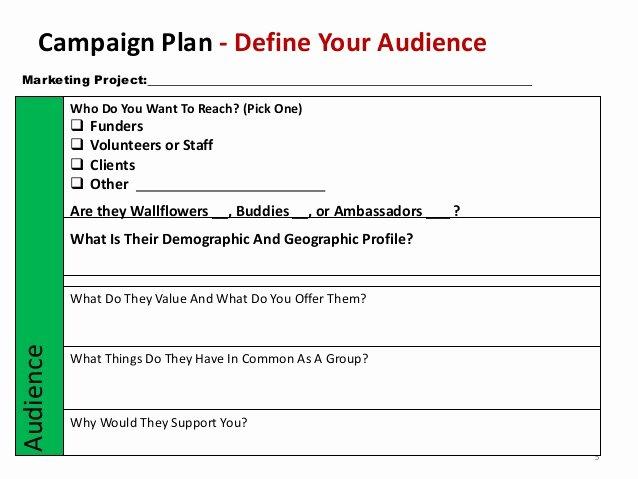 Marketing Campaign Plan Template Fresh Non Profit Marketing Campaign Template