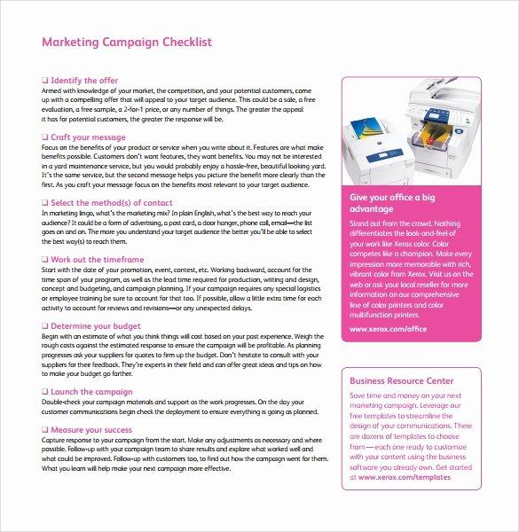 Marketing Campaign Plan Template Luxury 9 Sample Marketing Campaign Templates