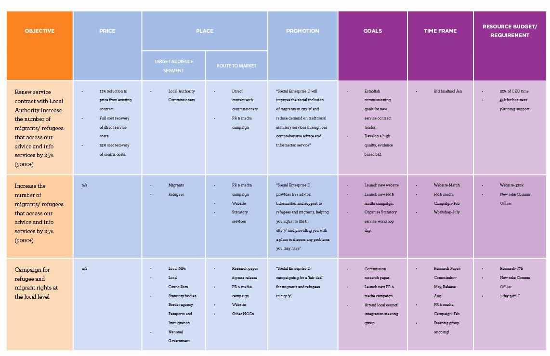 Marketing Campaign Plan Template New Unltd Developing Your Marketing Strategy & Plan