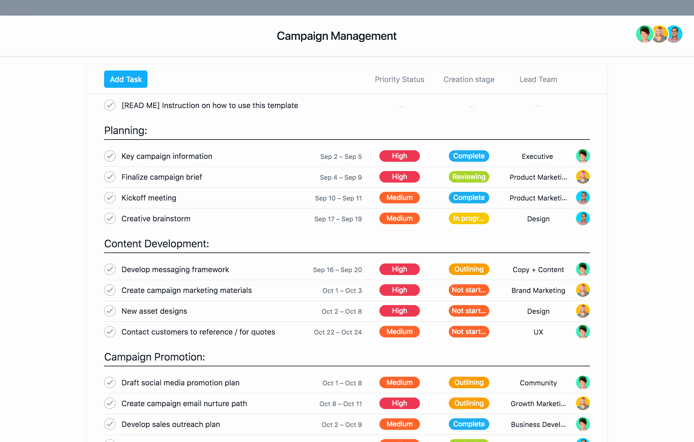 Marketing Campaign Proposal Template Best Of Marketing Campaign Plan Template and Tips · asana