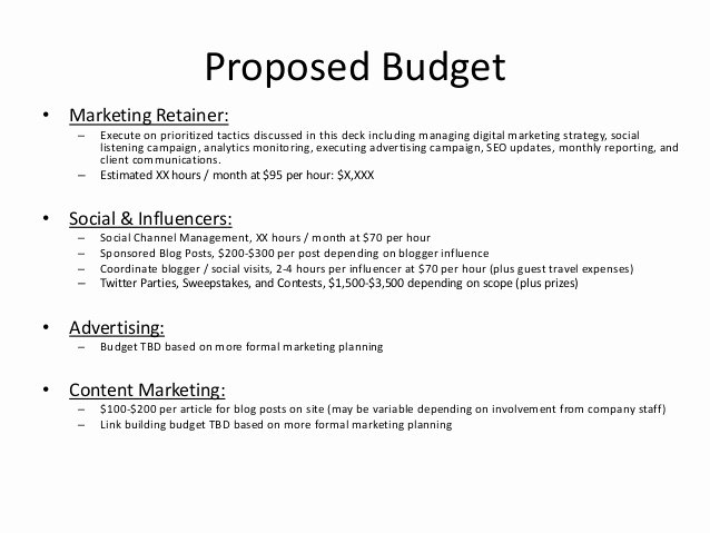 Marketing Campaign Proposal Template Fresh Digital and social Content Marketing Proposal Example for