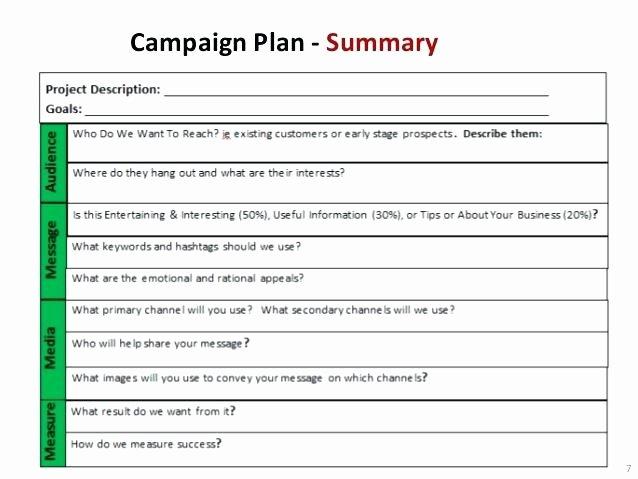 Marketing Campaign Proposal Template Fresh Non Profit Marketing Campaign Template Campaign Plan