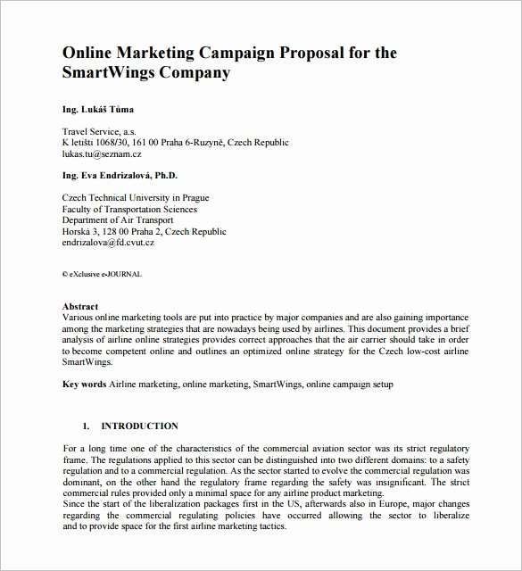 Marketing Campaign Proposal Template Luxury Marketing Proposal Template 28 Free Sample Example