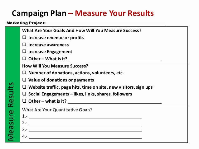 Marketing Campaign Strategy Template Best Of Non Profit Marketing Campaign Template