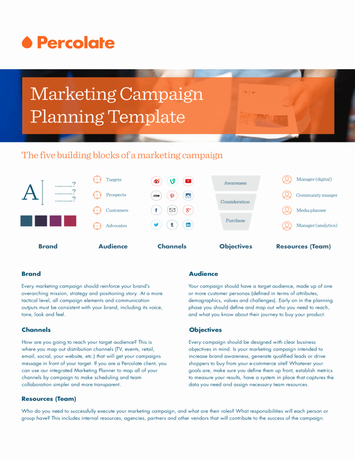 Marketing Campaign Strategy Template Elegant Marketing Campaign Template