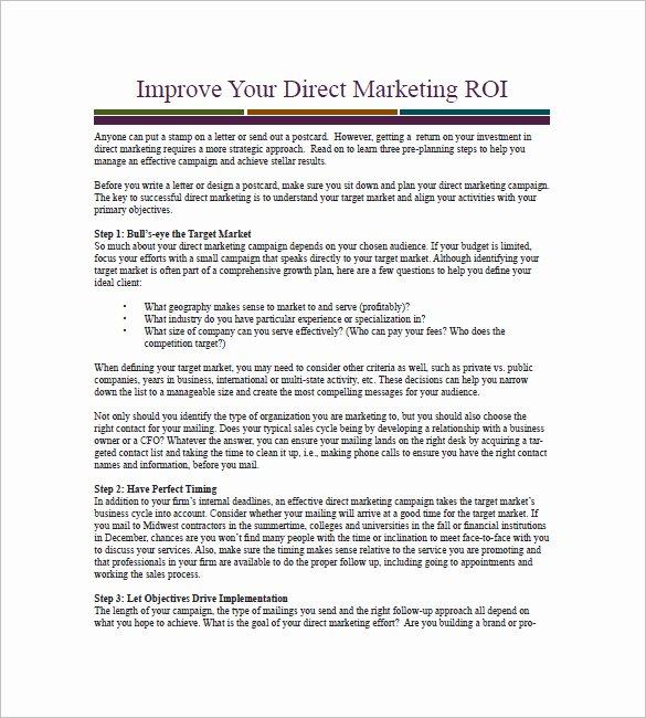 Marketing Campaign Strategy Template Unique 14 Marketing Campaign Plan Templates Doc Excel Pdf
