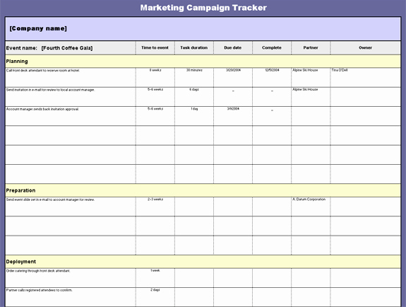 Marketing Campaign Template Excel Elegant Marketing Campaign Template
