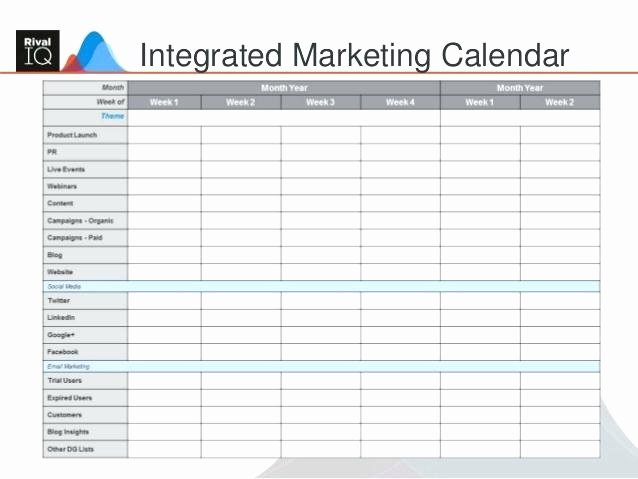 Marketing Campaign Template Excel Inspirational Marketing Campaign Calendar Template Planning Content