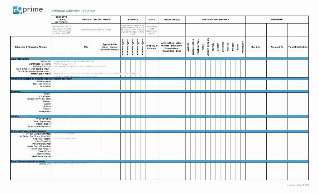 Marketing Campaign Template Excel New Marketing Campaign Calendar Template Excel