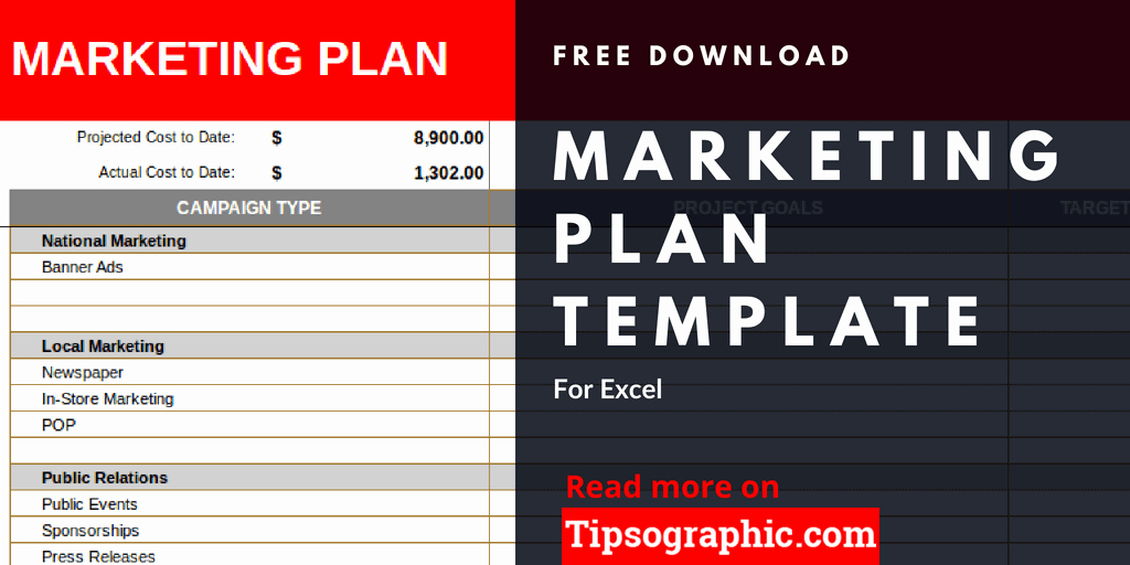 Marketing Campaign Template Excel New Tipsographic