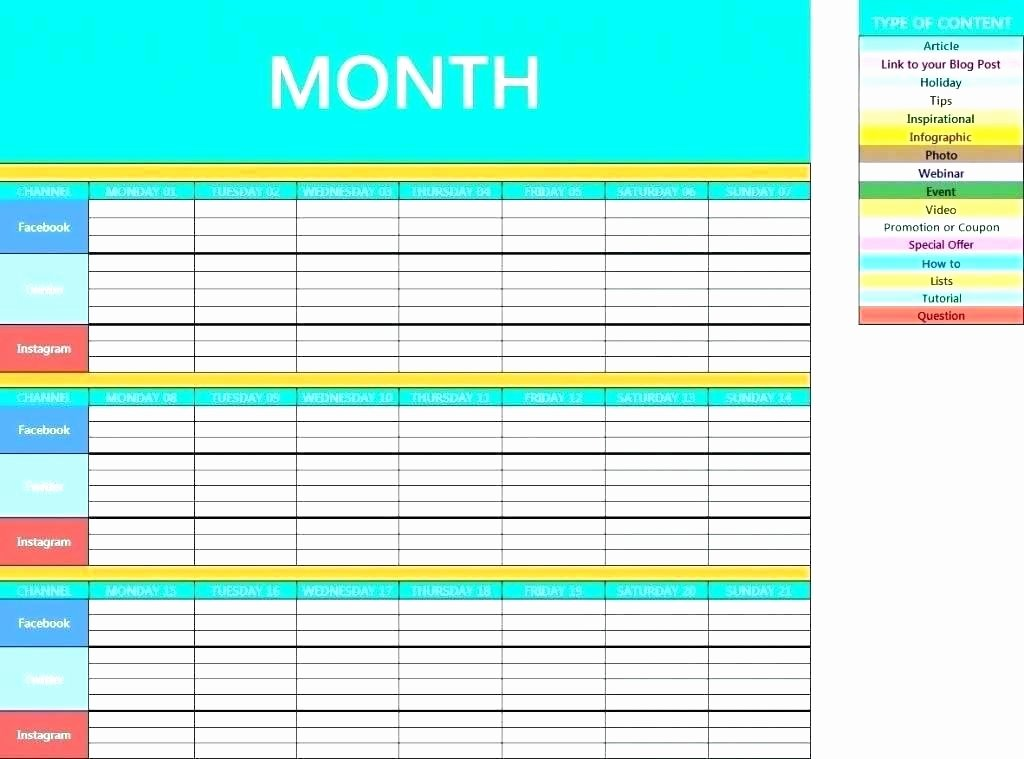 Marketing Campaign Template Excel Unique Campaign Schedule Template Unique social Media Campaign
