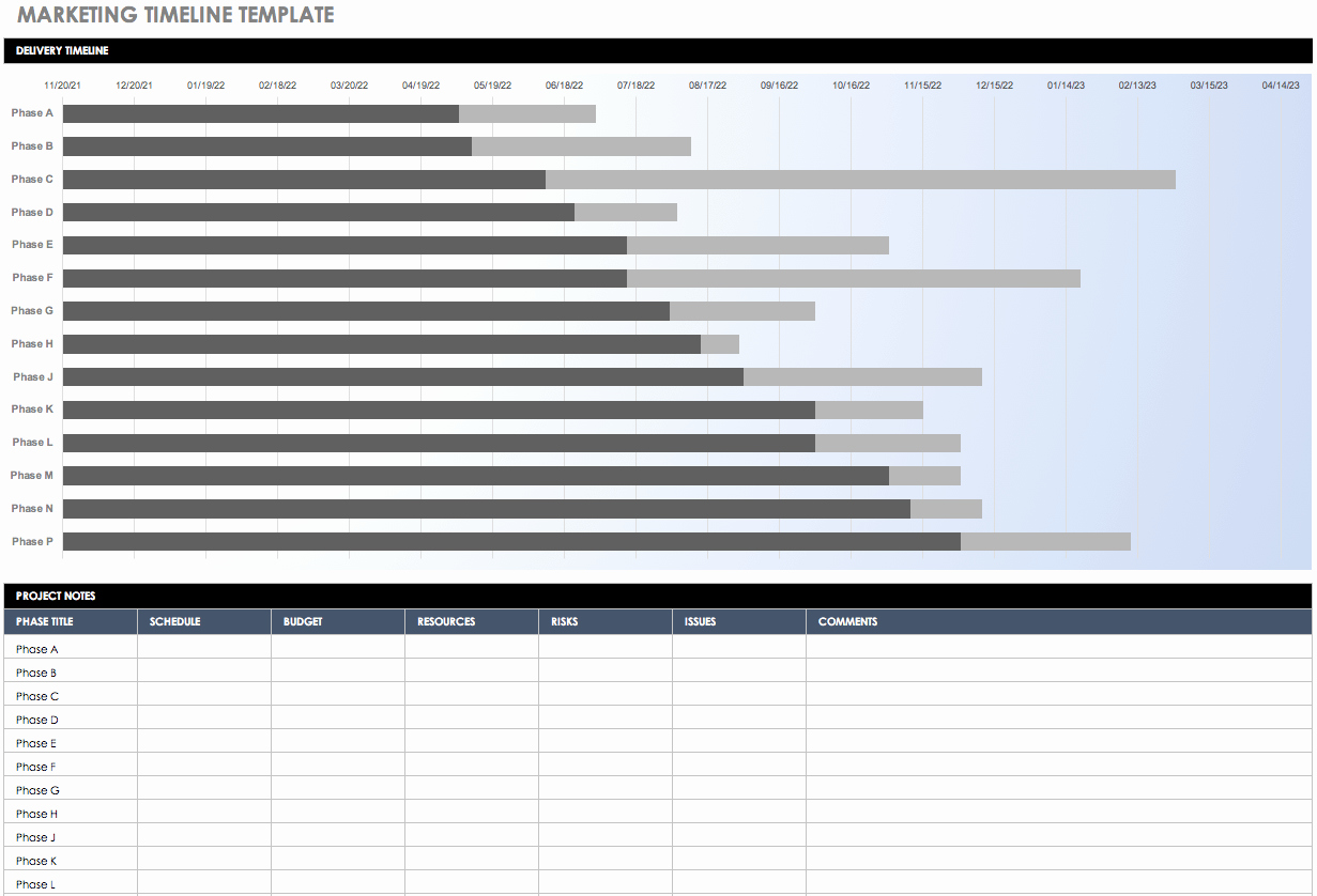 Marketing Campaign Timeline Template Beautiful Free Marketing Plan Templates for Excel