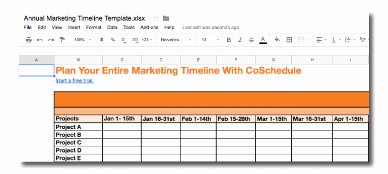 Marketing Campaign Timeline Template Best Of Marketing Timelines How to Develop them the Best Way