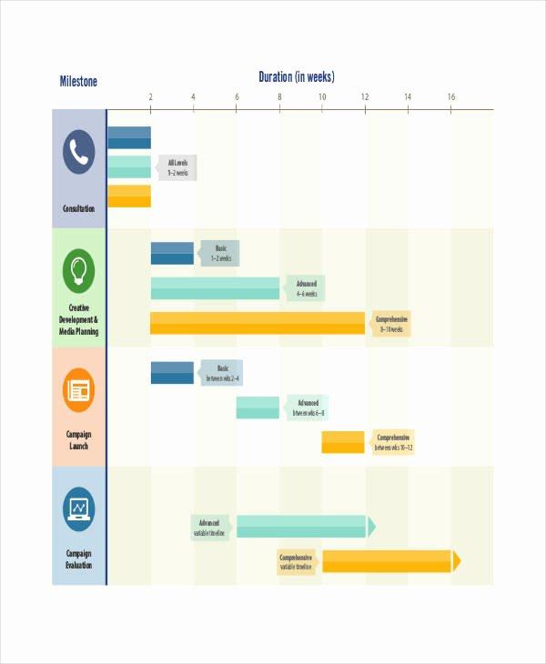 Marketing Campaign Timeline Template Elegant Marketing Timeline Templates 4 Free Word Pdf Excel