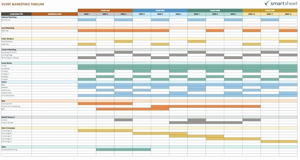 Marketing Campaign Timeline Template Inspirational Election Campaign Plan Template Marketing Schedule