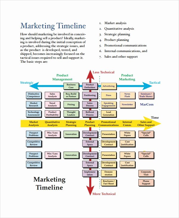 Marketing Campaign Timeline Template Lovely 21 Sample Timelines