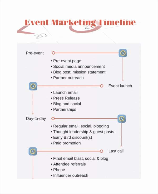 Marketing Campaign Timeline Template Lovely Marketing Timeline Template – 7 Free Excel Pdf Documents