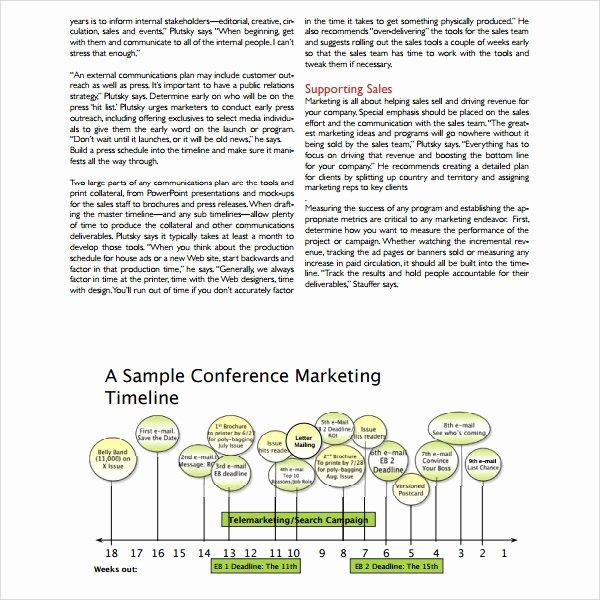 Marketing Campaign Timeline Template Unique 13 Marketing Timeline Templates