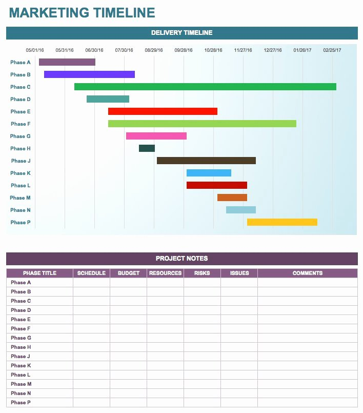 Marketing Campaign Timeline Template Unique Free Marketing Timeline Tips and Templates Smartsheet