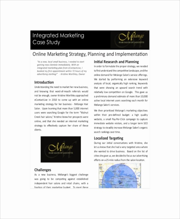 Marketing Case Study Template Beautiful 8 Marketing Case Study Templates – Free Sample Example