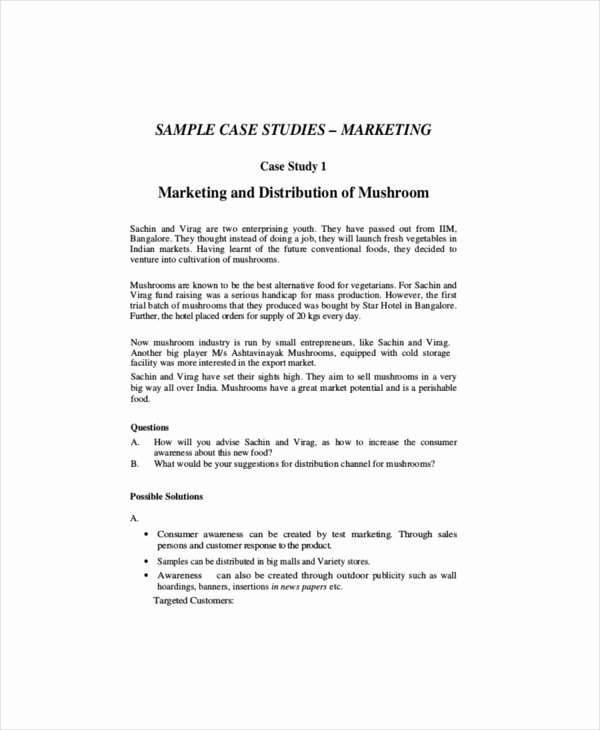 Marketing Case Study Template Lovely Marketing Case Study Template – 8 Free Word Pdf
