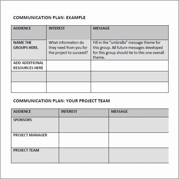 Marketing Communications Plan Template New 9 Munication Plan Template