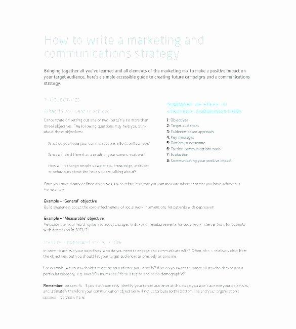 Marketing Communications Plan Template Unique Marketing Munications Plan Template