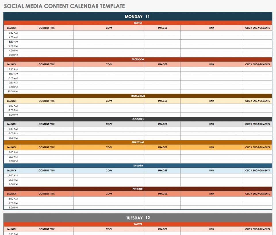 Marketing Content Calendar Template Awesome Free social Media Calendar Templates