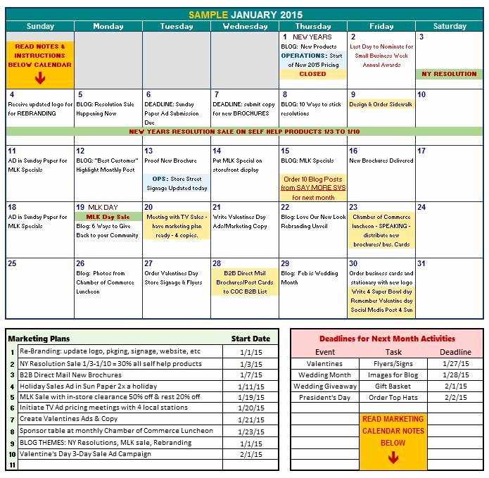 Marketing Content Calendar Template Beautiful Marketing Calendar Excel Template
