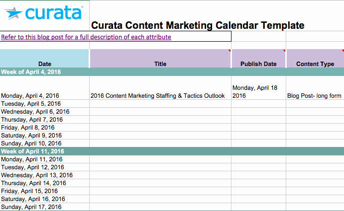 Marketing Content Calendar Template Best Of Editorial Calendar Templates for Content Marketing the