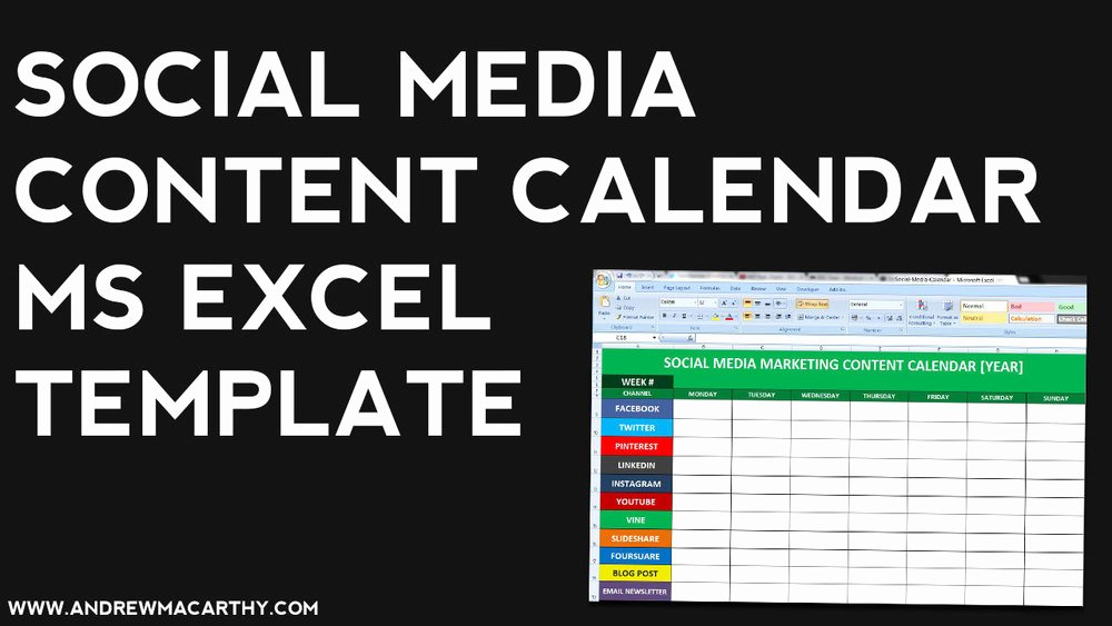 Marketing Content Calendar Template Best Of social Media Content Calendar Template Excel