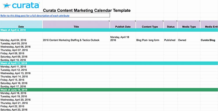Marketing Content Calendar Template Inspirational Hubspot Editorial Calendar Template Content Calendar