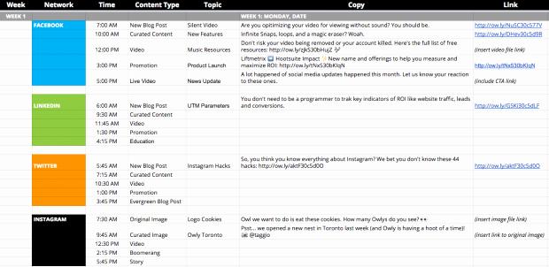 Marketing Content Calendar Template Lovely In 6 Schritten Zum social Media Marketing Plan