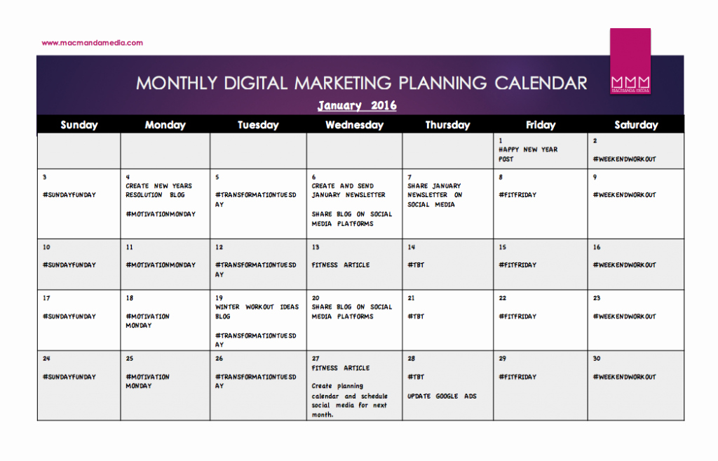 Marketing Content Calendar Template Luxury Content Calendar Template Free Download Macmanda Media