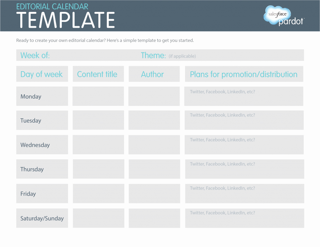 Marketing Content Calendar Template New Editorial Calendar Template An Easy Printable Way to