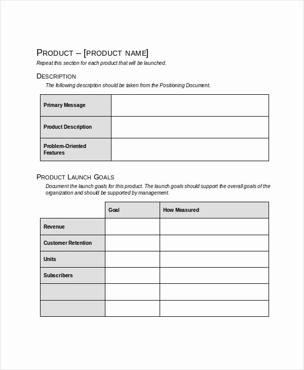 Marketing Launch Plan Template Elegant Product Launch Plan Template 8 Free Word Pdf Document