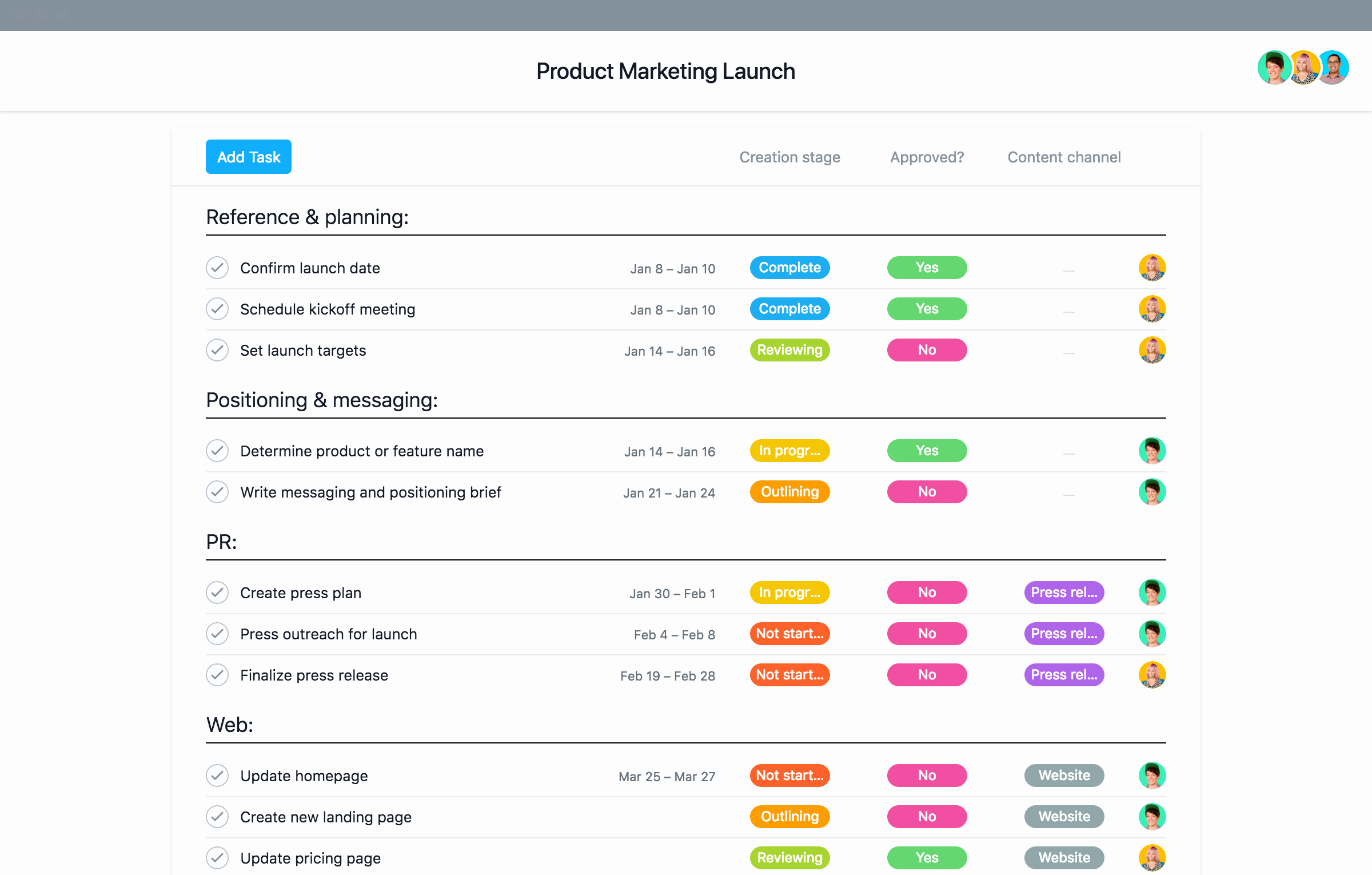 Marketing Launch Plan Template Luxury Marketing Teams Use these Project Templates to Manage