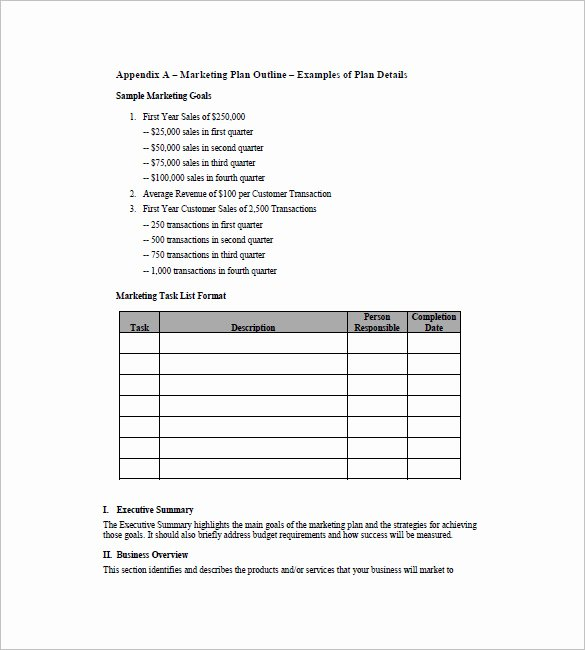 Marketing Plan Outline Template Fresh 19 Simple Marketing Plan Templates Doc Pdf