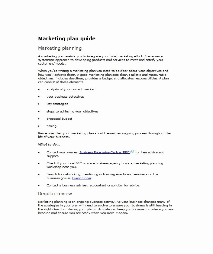 Marketing Plan Outline Template Fresh 33 Free Professional Marketing Plan Templates Free