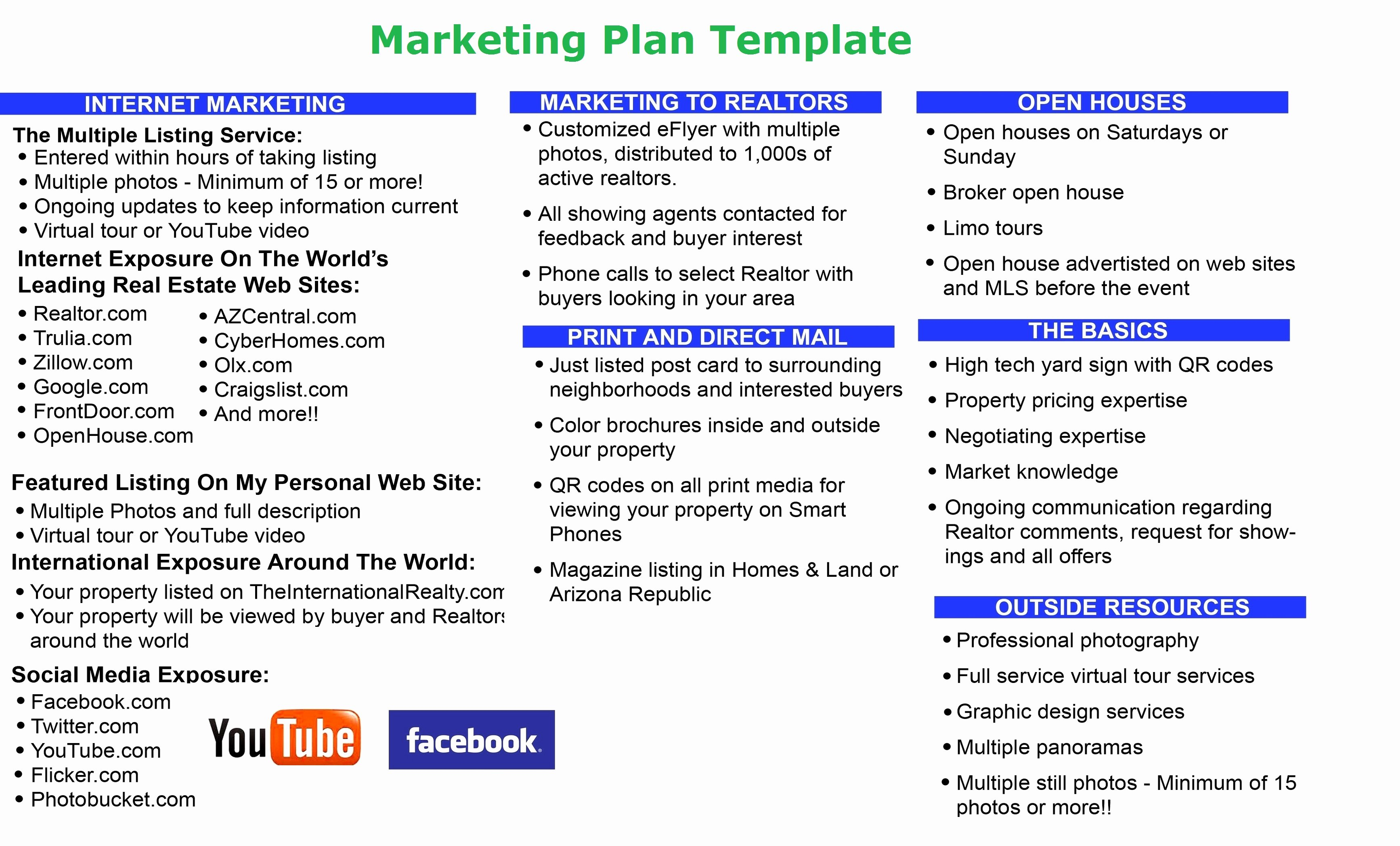 Marketing Plan Outline Template Inspirational Marketing Plan