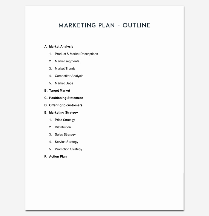 Marketing Plan Outline Template Inspirational Marketing Plan Outline Template 16 Examples for Word