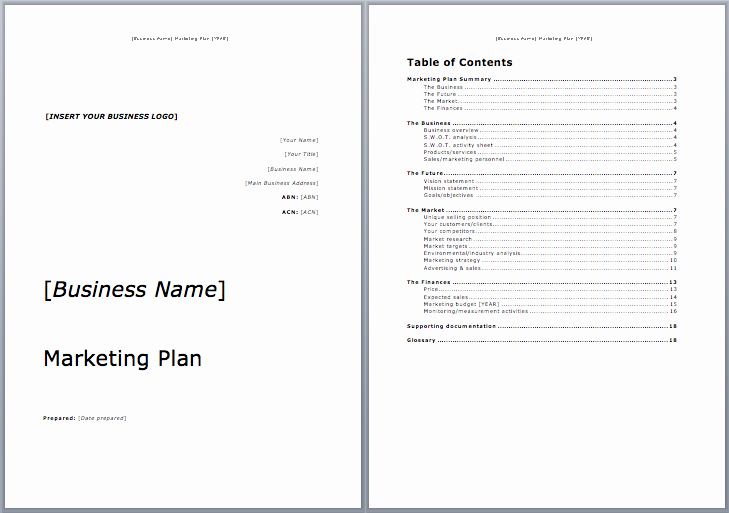 Marketing Plan Outline Template Lovely Marketing Plan Template Microsoft Word Templates