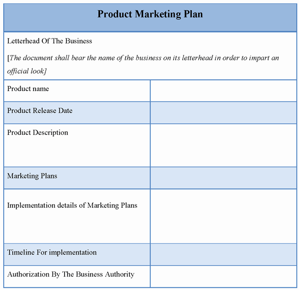 Marketing Plan Outline Template Luxury Product Template for Marketing Plan Template Of Product