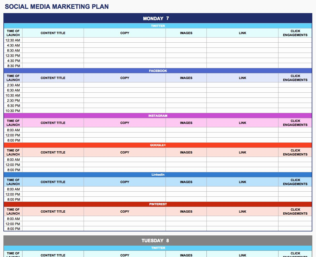 Marketing Plan Outline Template Unique Free Marketing Plan Templates for Excel Smartsheet