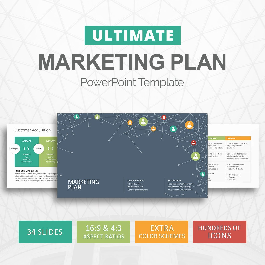 Marketing Plan Outline Template Unique Marketing Plan Powerpoint Template Marketing Strategy