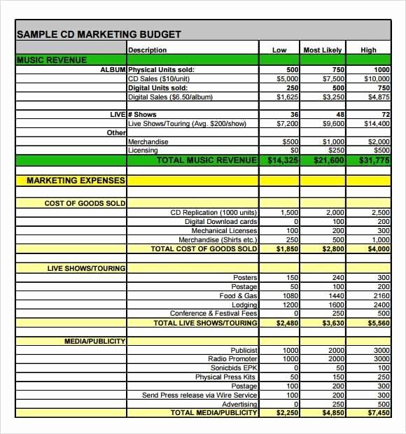 Marketing Plan Template Excel Fresh 10 Marketing Plan Bud Templates Excel Templates