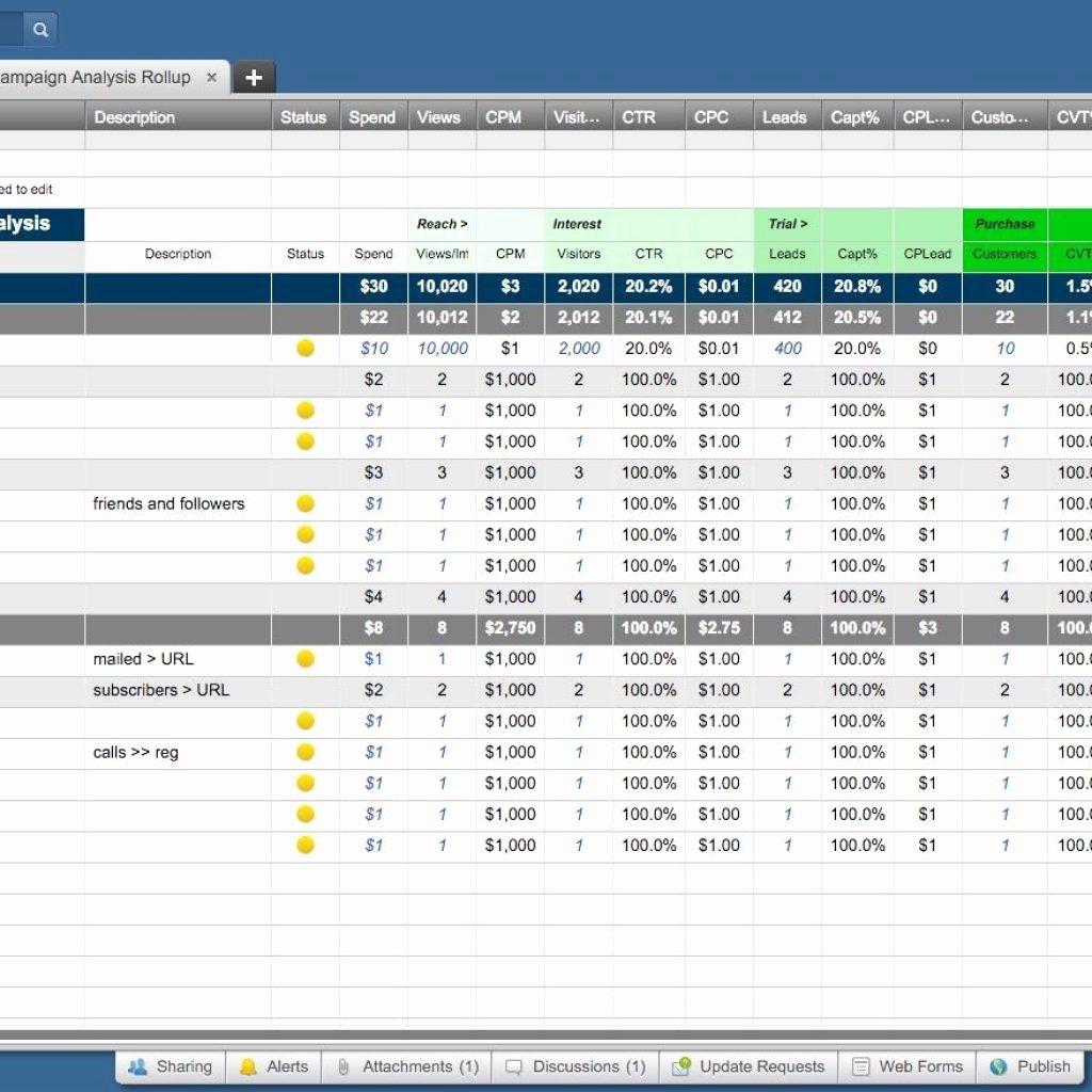 Marketing Plan Template Excel Inspirational Marketing Campaign Tracking Spreadsheet La Portalen