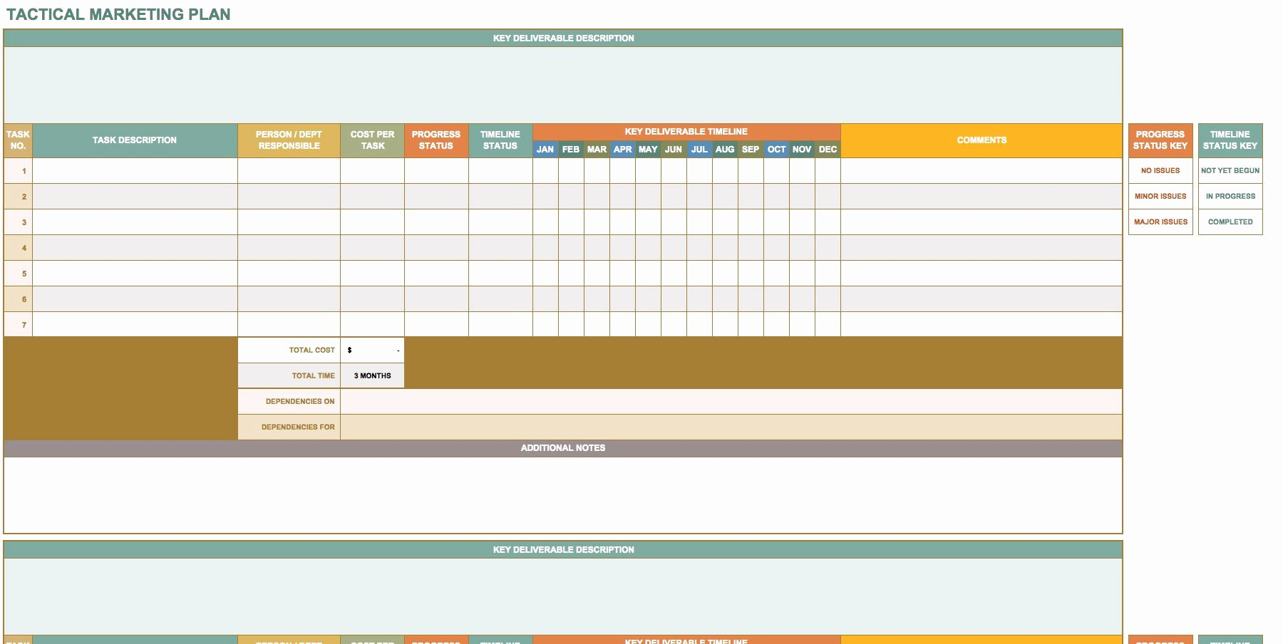 Marketing Plan Template Excel New Free Marketing Plan Templates for Excel Smartsheet