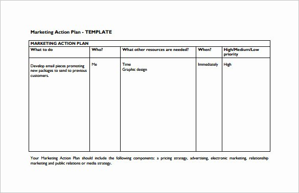 Marketing Plan Template Pdf Best Of 8 Marketing Action Plan Templates Doc Pdf